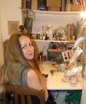 Lucinda at work